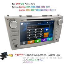 Lecteur DVD de voiture 2Din 8 pouces   Autoradio pour Toyota Camry 2007 2008 2009 2010 2011 Aurion 2006 RDS AUX USB SWC BT CAM