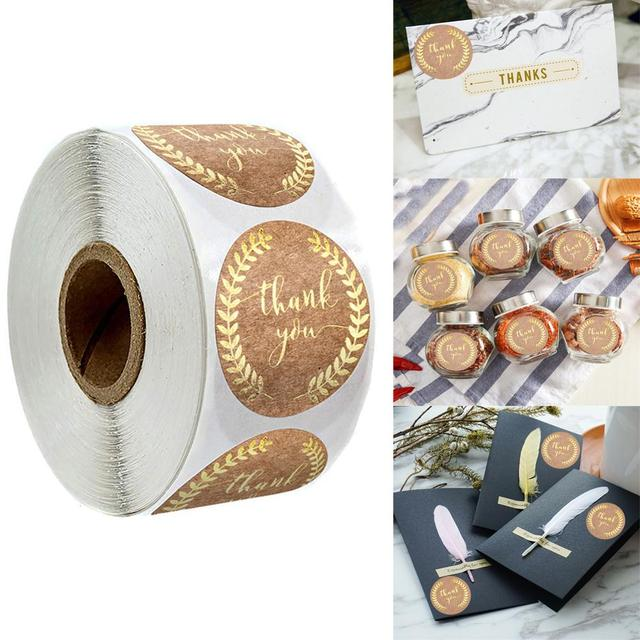 500Pcs Thank You Stickers Seal Labels for Gift Packaging 4