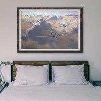 Peinture classique retro T154  1 affiche personnalisee en soie  operations de vol davion de guerre  decoration murale  cadeau de noel
