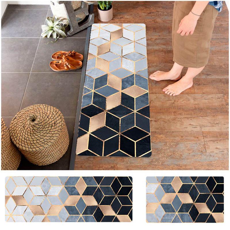 Kitchen Mat PVC Leather Floor Mats Long Carpets and Rugs Doormats Bedroom Bath Mats Anti Slip Anti Oil Kitchen Rugs