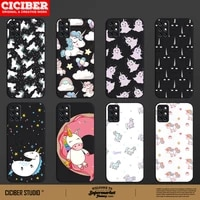 cute unicorn cover for oneplus 8 8t 9 9r 7 7t 6 6t pro nord n10 n100 phone cases for18 17 16 19 19r black tpu phone cases