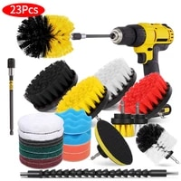 electric cleaning brush set for drill brush attachment set bathroom car grout carpet floor car beauty cleaning brush