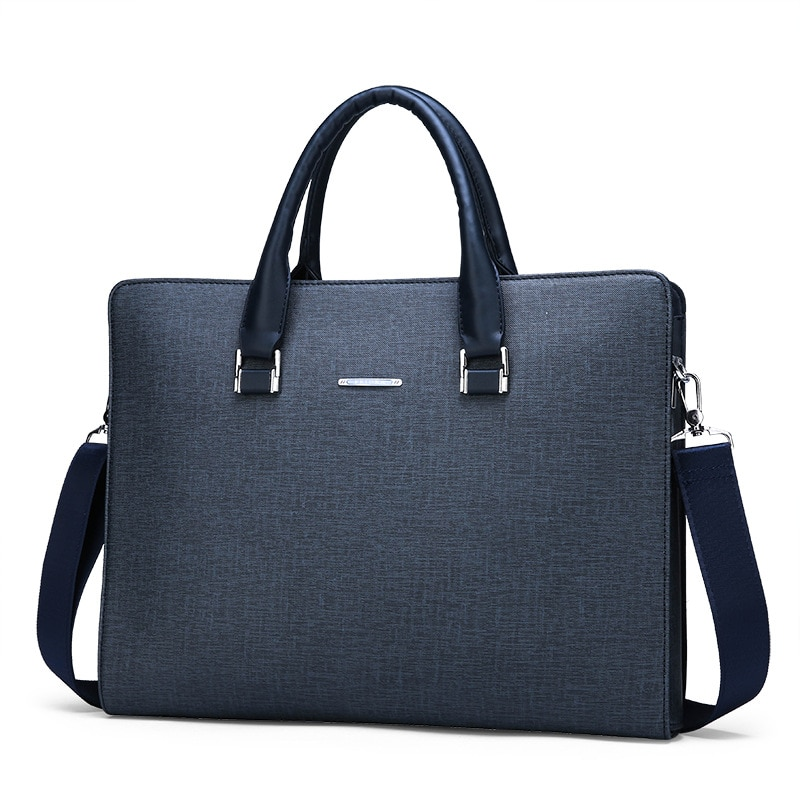 2020 New Business Men's Bag Travel Portable Briefcase PU Leather Men Single Shoulder Diagonal Laptop Computer Bags Male Handbag
