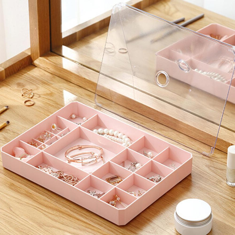 Rejillas de joyería, cuentas, pendientes, anillo, píldoras, caja de almacenamiento, organizador de joyas, estuche protector
