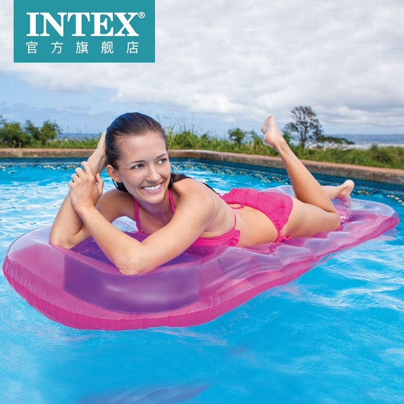 Colchón flotante de drenaje de 18 agujeros a la moda, cama flotante de Intex