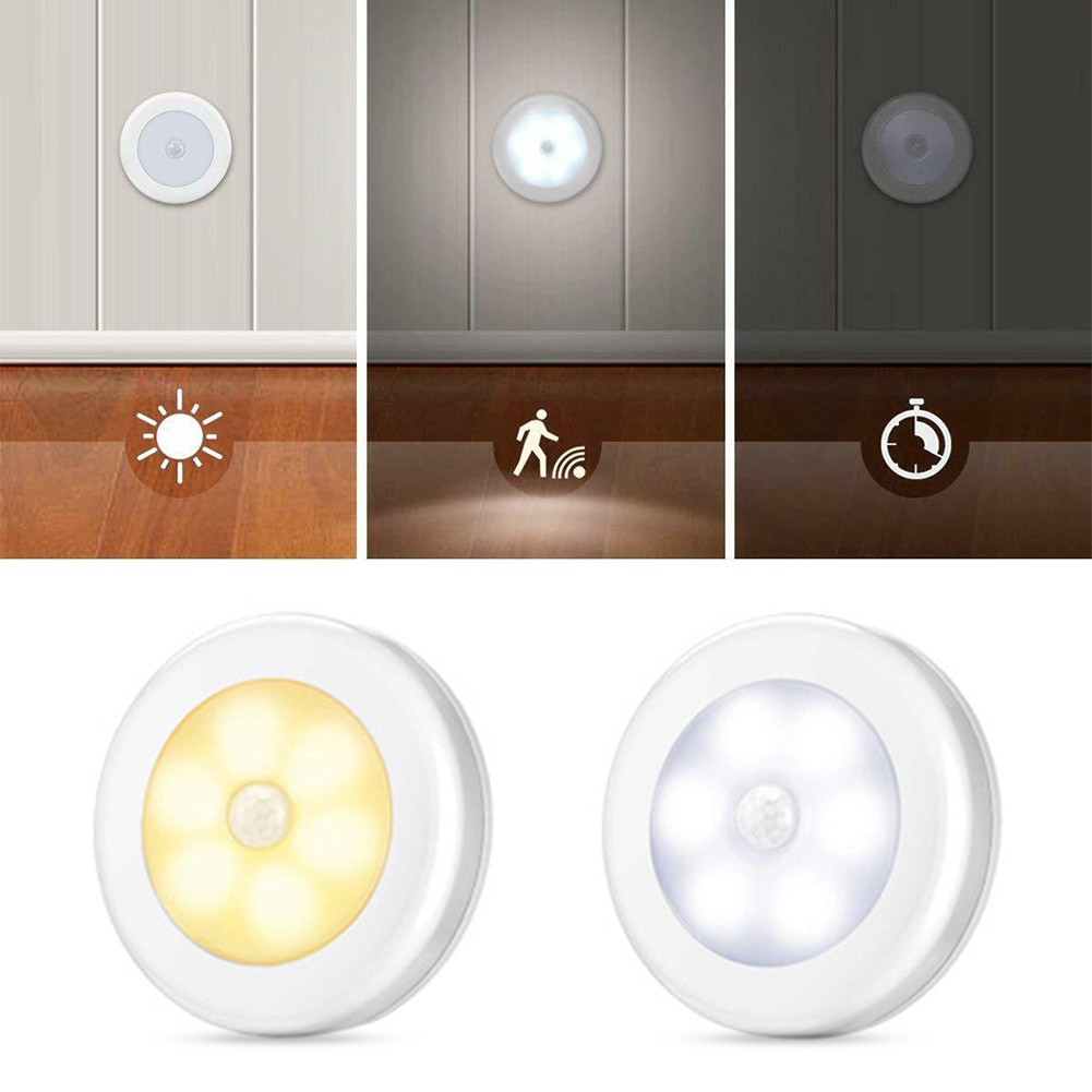 LED Induction Light Built-in 6 Bulbs Human Body Induction Lamp Style Bedroom Bedside Creative Night Light Corridor Cabinet Ligh led smart light control human body induction night light creative led induction night light emergency light corridor lamp small table lamp