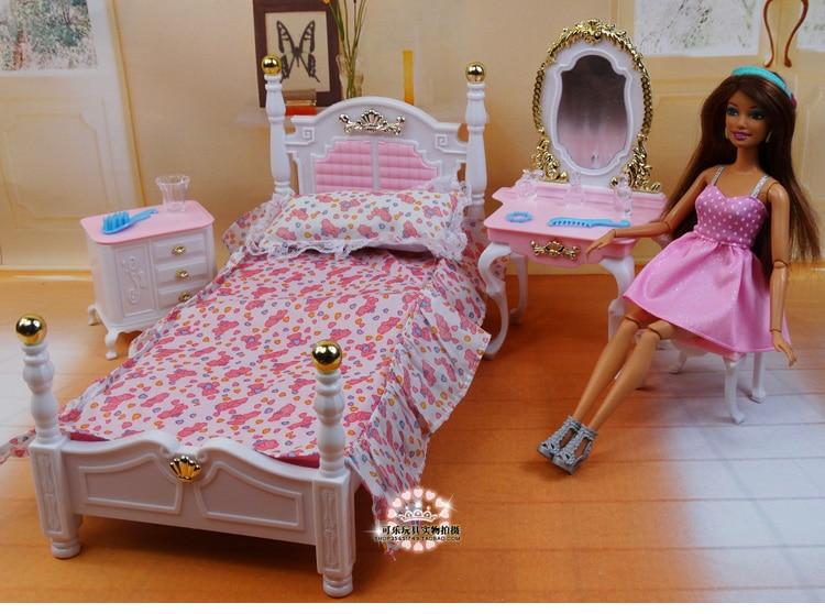 أثاث غرفة نوم أميرة باربي الأصلي ، إكسسوارات للدمى 1/6 bjd ، بيت الدمية ، خزانة خزانة صغيرة ، لعبة أطفال ، هدية