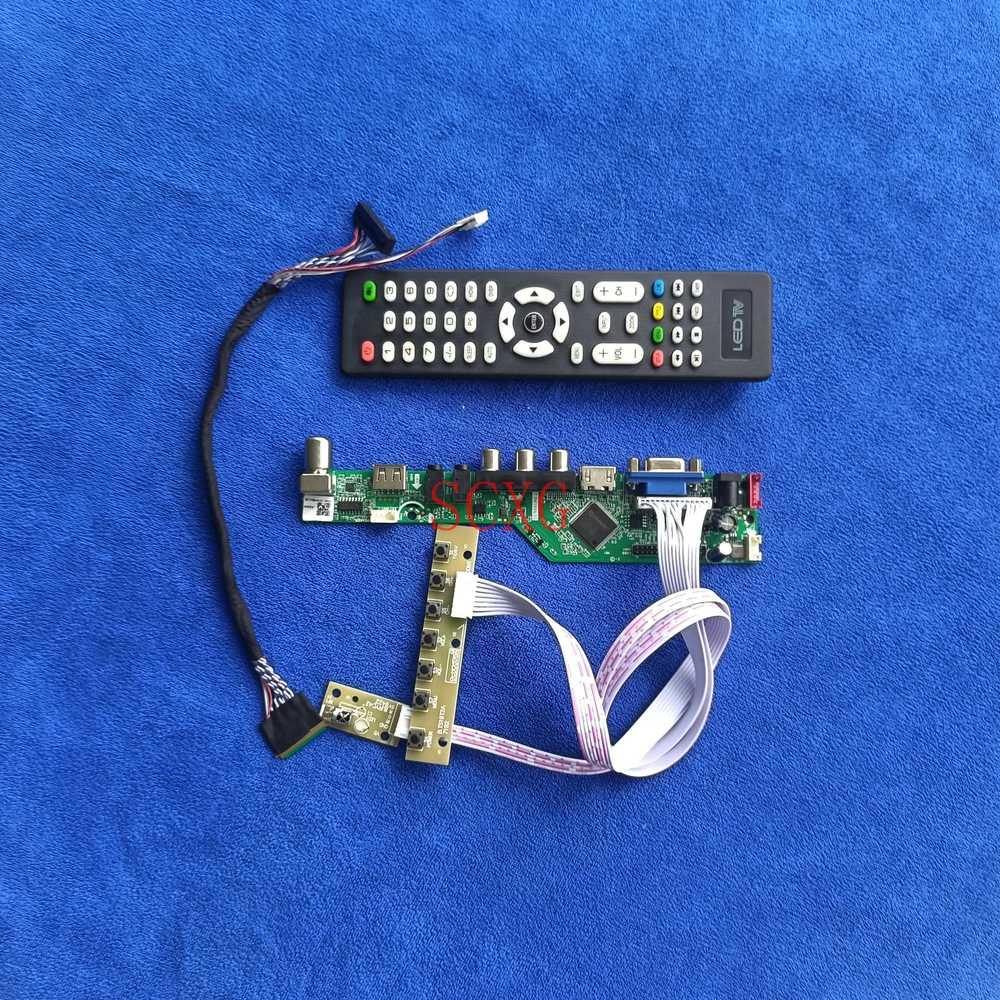لتقوم بها بنفسك عدة VGA USB AV HDMI-متوافق مع LTN101NT06/LTN101NT07 التناظرية إشارة LED LCD LVDS 40 دبوس عرض لوحة تحكم 1024*600