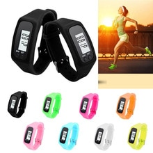 Multifunctional Men And Women Pedometer LCD Electronic Watch Wristband Step Distance Calorie Counter