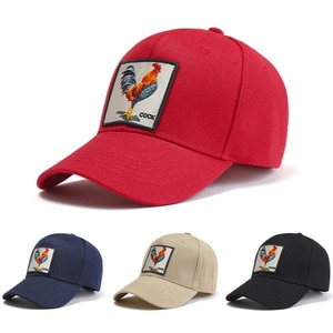Casual Baseball Cap Embroidery Rooster Cotton Baseball Cap Ladies Sun Hat Men'S Outdoor Sports Hat