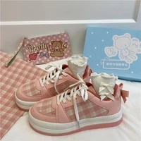 womens sports shoes kawaii spring and autumn 2021 new platform fashion vulcanized harajuku casual cute running shoes