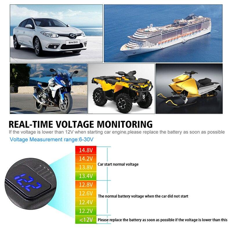 Puerto USB Dual QC3.0 carga rápida para Huawei Samsung Apple navegación GPS motocicleta manillar cargador voltímetro con interruptor