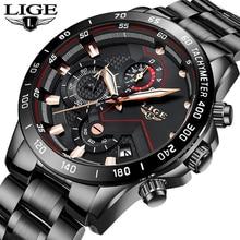 2019 Heren Horloges Fashion Rvs Luik Top Merk Luxe Sport Chronograph Quartz Horloge Mannen Zwarte Horloge Relogio Masculino