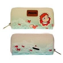 แฟชั่นน่ารักและน่ารักพิมพ์กระเป๋าสตางค์ Ponyo กระเป๋าถือผู้หญิง DFT5041