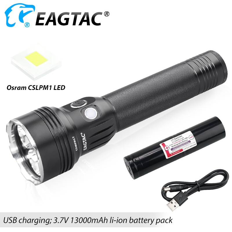 eagtac mx30l2cr 3100 lumens longo lance 801 yard usb recarregavel leo lanterna policia luz