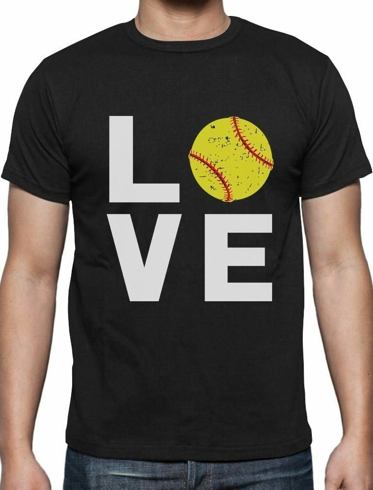 Amor Softball-regalo para los Fans del Softball camiseta para hombre jugador de Softball Verano de algodón de manga corta o-cuello camiseta para hombres nueva S-3XL