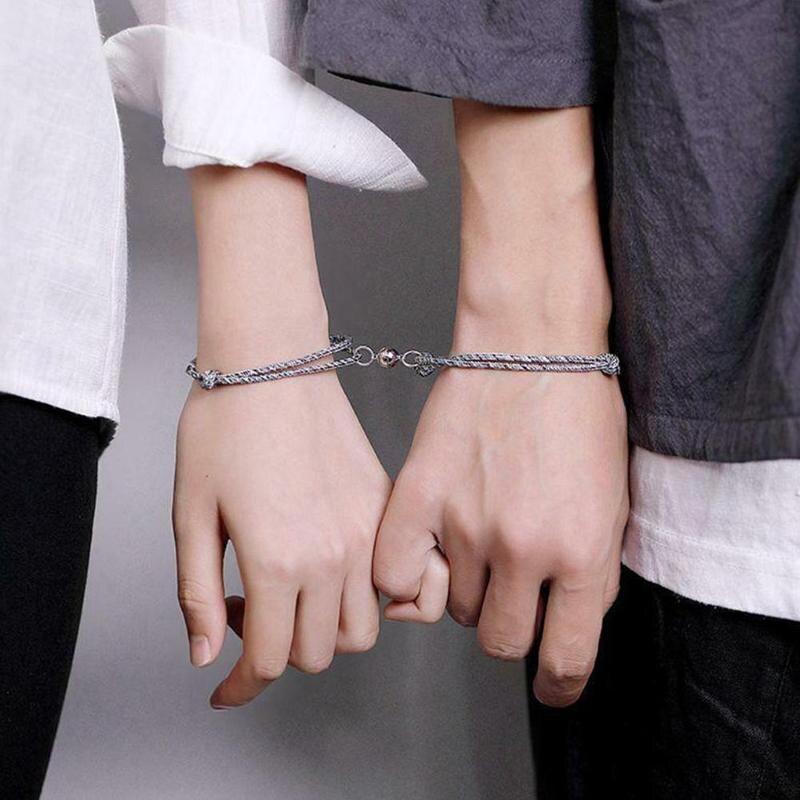 Kreative Magnet Zieht Jeder Andere Paar Armband Männer Und Frauen Charme Armband Schmuck