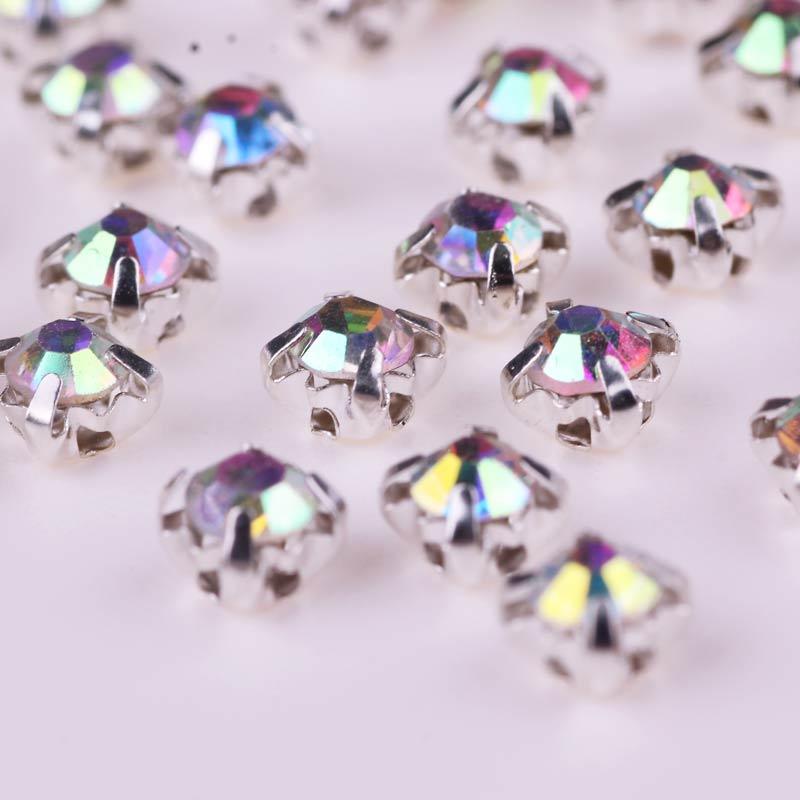 100 Uds diamantes de cristal relucientes para decoración de costura DIY diamantes de imitación de cristal con parte posterior plana para accesorios de vestido de novia
