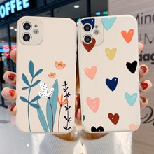 Lens Protection Case For iPhone 11 Case Flower Cover Soft Cover iPhone 11 12 Pro Max X XR XS 7 8 Plu