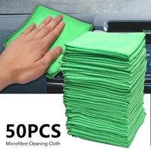 Полотенце из микрофибры для мытья автомобиля, салфетка для чистки и сушки автомобиля, полотенце для мытья с окантовкой, товары для мойки автомобиля 30x30 см