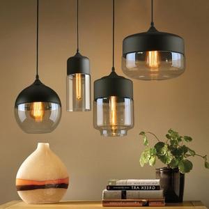 Nordic Pendant Lights with Bulbs Modern Loft Hanging Light Glass LED Pendant Lamp for Dinning Room Kitchen Island Pendant Lights