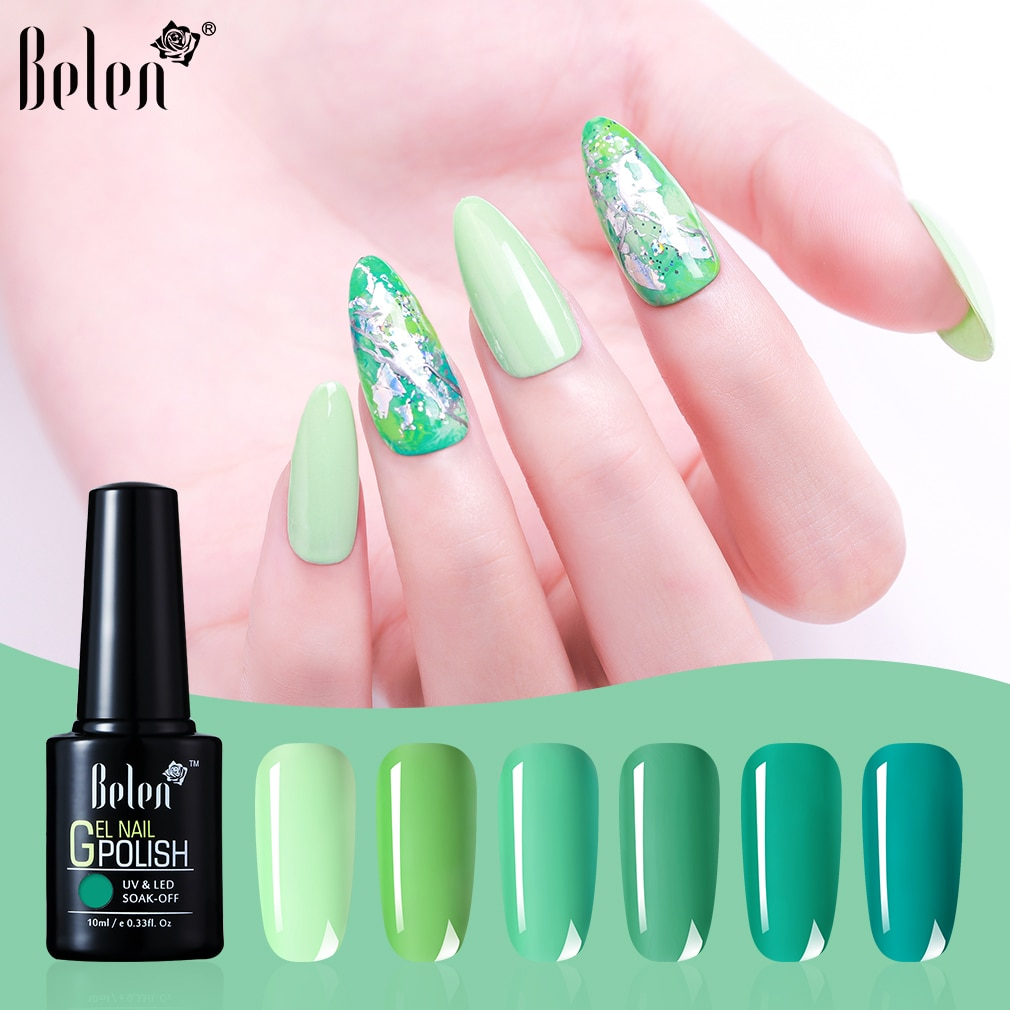 Belen Turquesa Soak Off LED UV Unhas de Gel Polonês Verniz Gel Cartilha Polonês Salon Manicure Híbrido Semi Permanente Prego 10ML