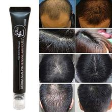 Suero de crecimiento de línea capilar de 20ml Derma para cuero cabelludo, ampolla intensiva, rodillo rápido, Triple masajeador, pérdida de esencia, Regrow Hair