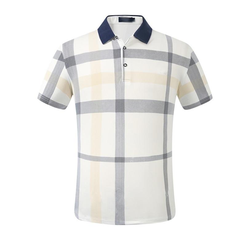 Men New Polo Shirt Brands Short Sleeve Fashion Casual Slim Deer Embroidery Printing Men Polos