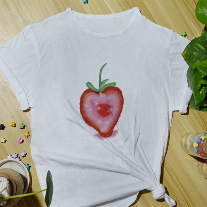 Summer Daily Casual Women Cotton T-Shirt Fashion Top Tees Funny Print Cartoon Cute Basic Short Sleeve O-Neck T-Shirts for Women