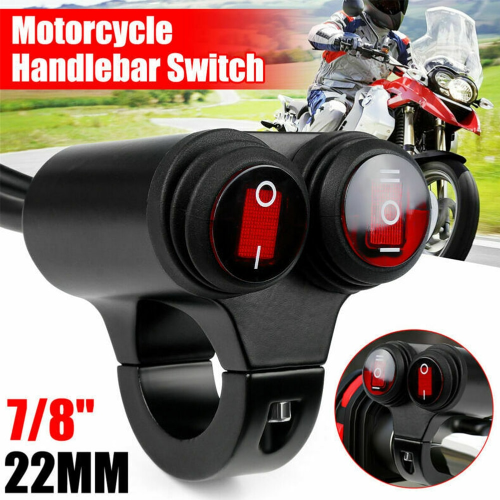 7/8''22mm Motorcycle Handlebar Switch Headlight Fog Spot Light Dual On Off Switch 12v For Motorcycle Fog Light Accessories Tools