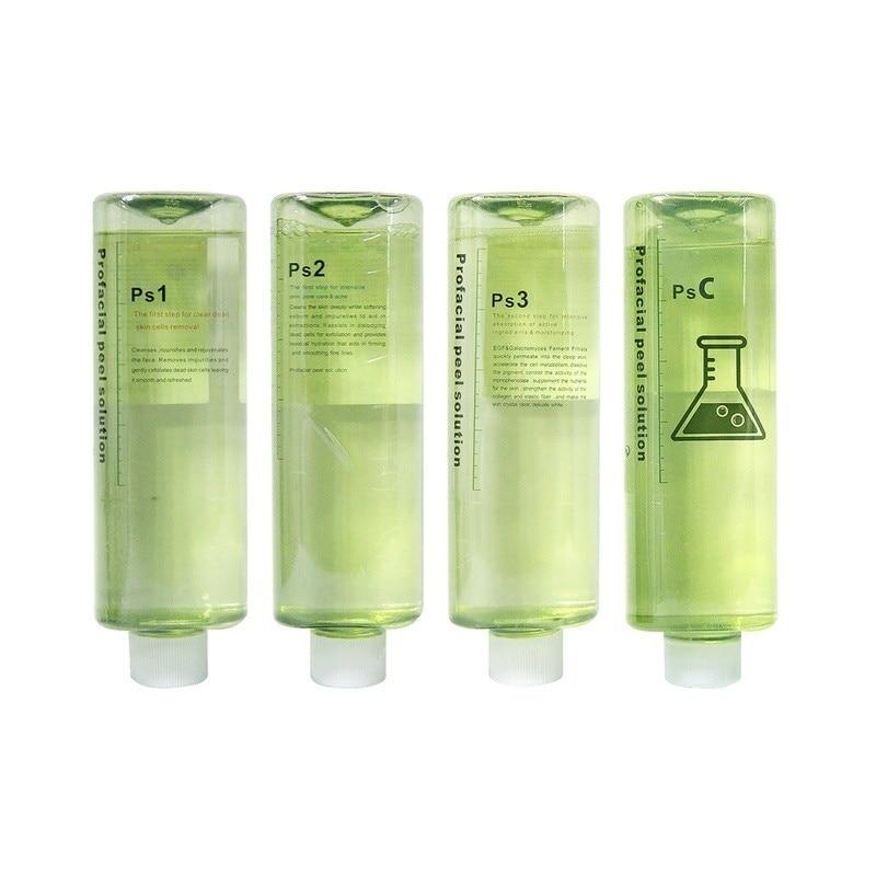 أكوا تقشير الحل PS1 + PS2 + PS3 + PSC 4 زجاجات 30 مللي لكل زجاجة مصل الوجه هيدرا للبشرة العادية