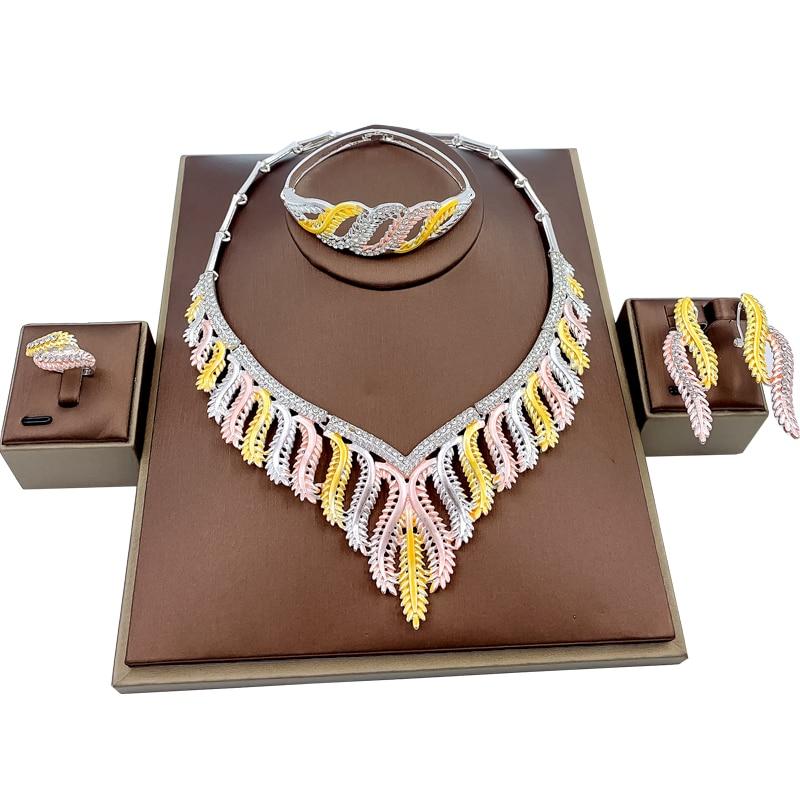Juego de joyas de colores para novia con abalorio indio, anillo collar aros, pulsera de estilo africano, accesorios de joyería de boda