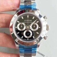 40mm Men's Watch Sapphire Glass Luxury Brand Automatic Stainless Steel Case Waterproof Black Dial Luminous Watch Men AAA1