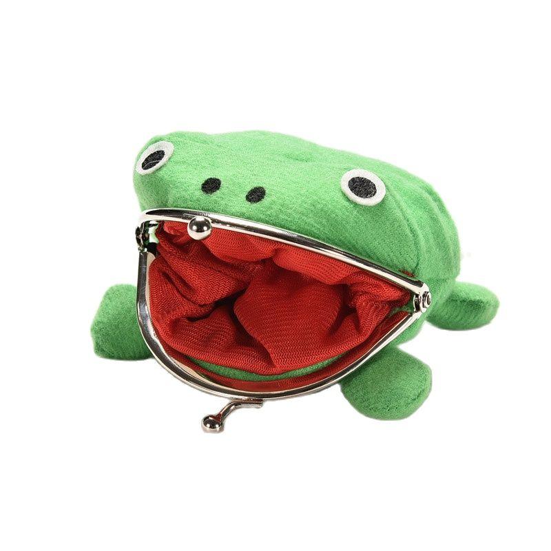 10Pcs/Lot 10X12CM Narutos Gama Bunta Frog Doll Soft Coin Purse Wallet Plush Bag