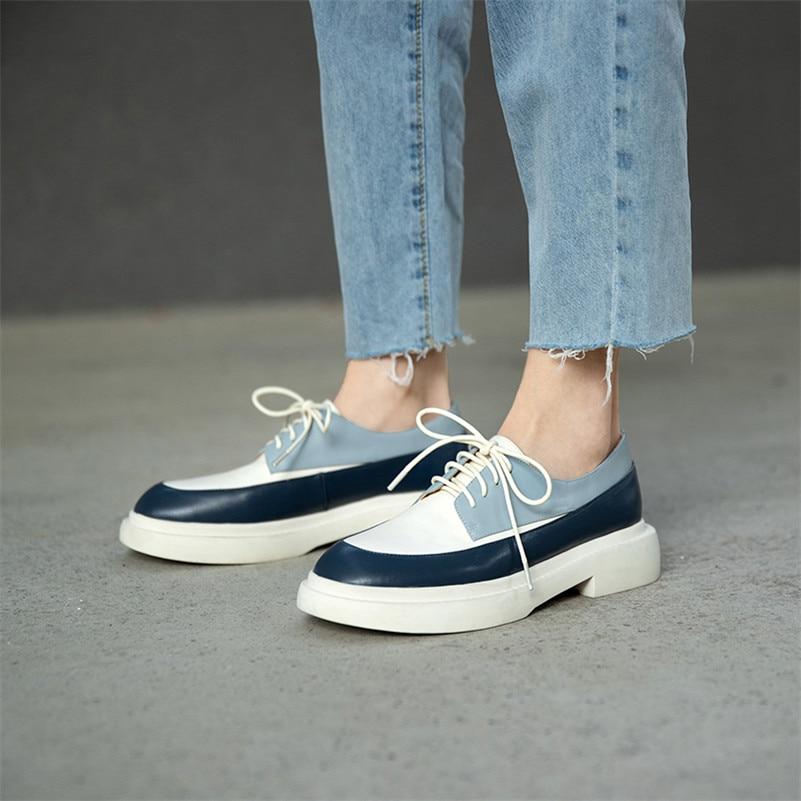 Meotina-حذاء مسطح من الجلد الطبيعي للنساء ، حذاء كاجوال بمقدمة مستديرة ، مع أربطة متقاطعة ، لربيع 2021