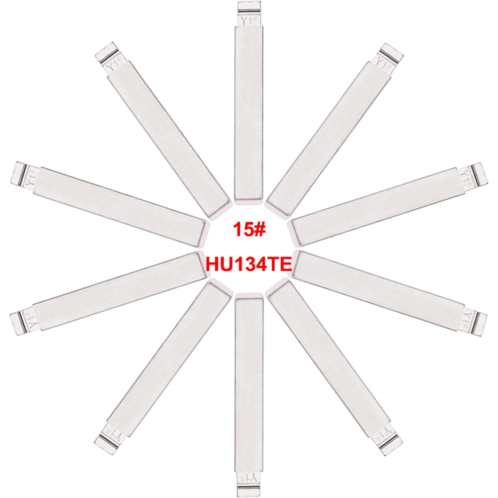 Keyecu 10 Pieces Y15 15#, HU134TE KEYDIY Universal Remotes Flip Key Blade for Kia Venna