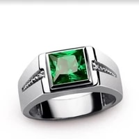new trendy geometric bohemian crystal inlaid ring mens ring fashion metal crystal ring accessories party jewelry