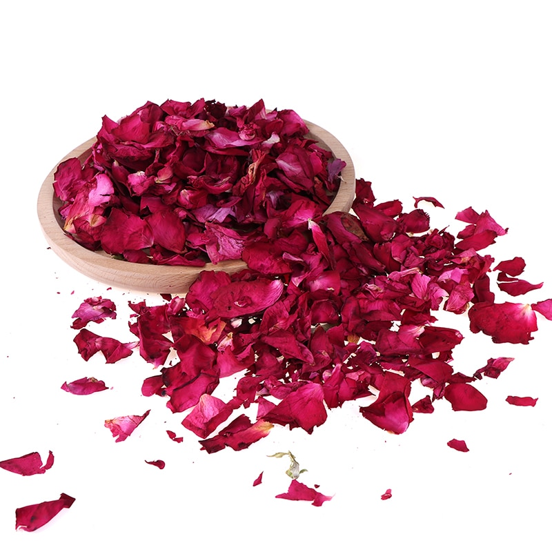 Romantic 100g/200g Natural Dried Rose Petals Bath Dry Flower Petal Spa Whitening Shower Aromatherapy Bathing Supply