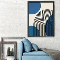 blue and black lines abstract artwork art prints trend canvas poster quote painting motivation wall pictures for living room