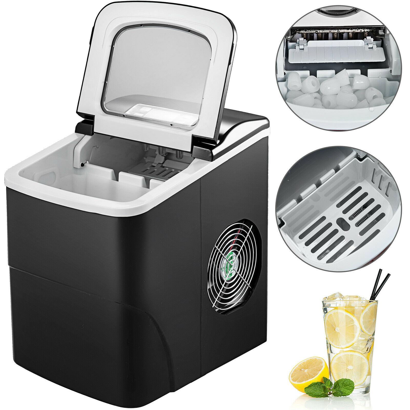 12 kg/24 h portátil máquina de gelo 2.2l tanque de água cozinha bala eficiente e rápida fazer gelo