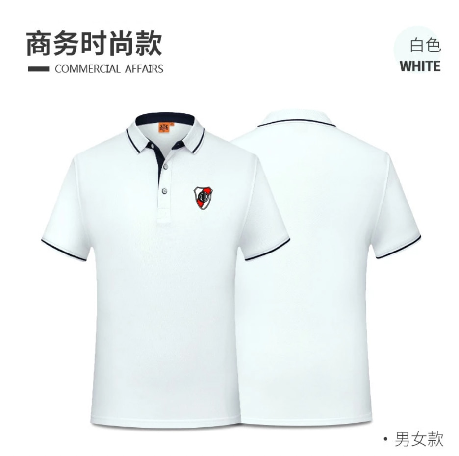 Camiseta de River Plate para hombre, camisa de polo deportivo informal para...