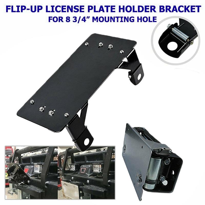 """8-3/4 """"furos de montagem guia placa de licença quadro suporte de rolo metal para fairlead substituição acessórios do carro"""
