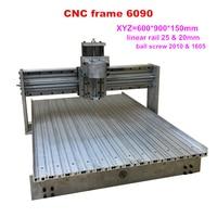 High Precision Liner Guide Rail CNC Frame Kit 6090 CNC Router frame 60*90 cnc engraver machine frame Russia/Europe tax free