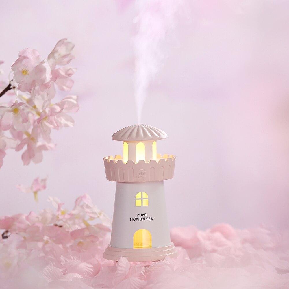 beautiful-lighthouse-ultrasonic-air-humidifier-dc5v-usb-water-diffuser-150ml-night-light-mist-maker-car-humidifier