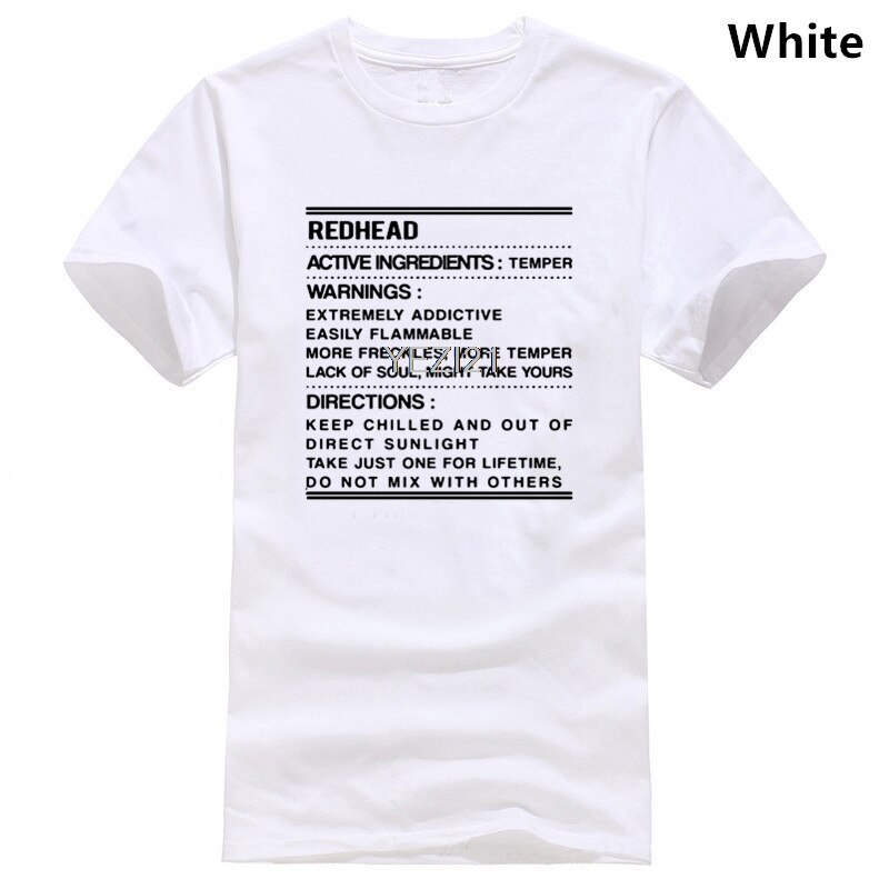 Camisa facilmente inflamável extremamente viciante dos avisos de temperamento dos ingredientes ativos redhead
