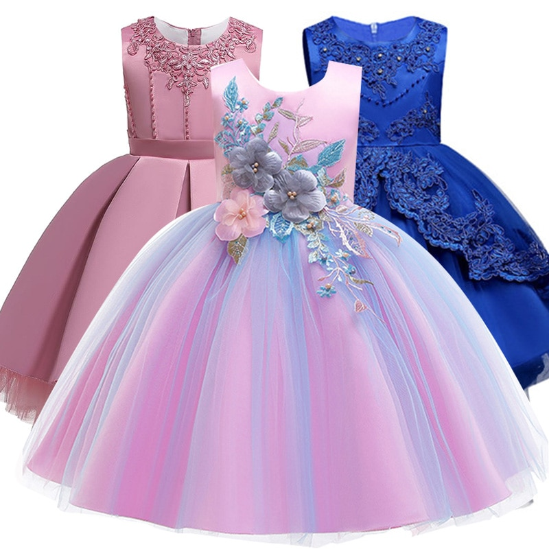 Niñas vestido vestidos infantiles para niñas dama de honor para boda Vestido princesa elegante Elsa Anna Cosplay vestidos niños ropa