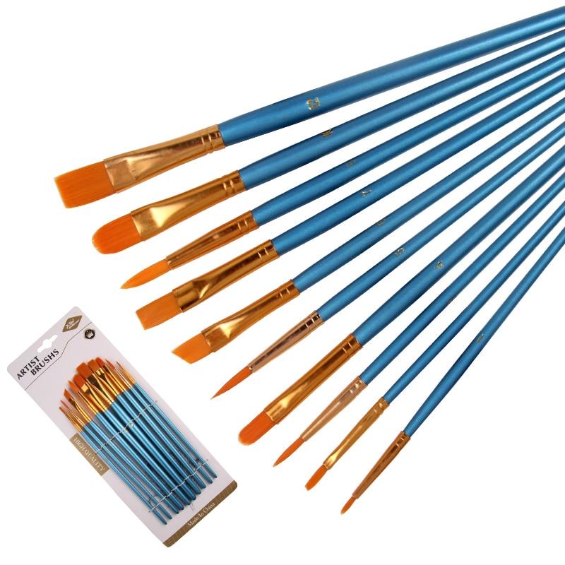 10-uds-nacarado-azul-varilla-de-pelo-de-nylon-multifuncional-pincel-de-croquis-pluma-pintura-para-acuarela-y-oleo-cepillo-conjunto-de-arte-de-la-escuela-suministros