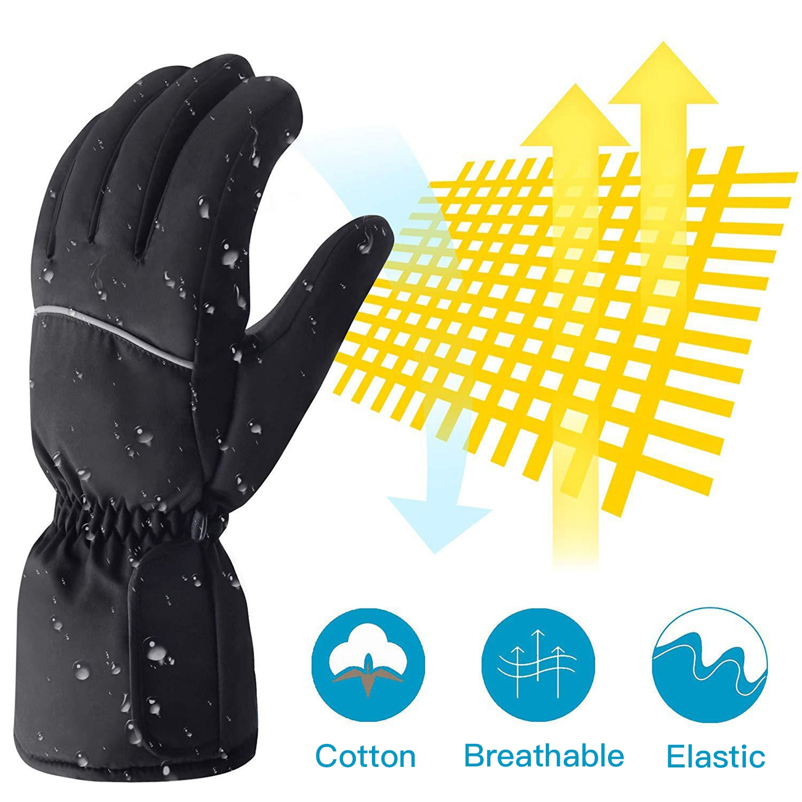 Heated Gloves Battery Powered Electric Heat Gloves For Unisex Waterproof Winter Thermal Gloves Warm Touchscreen Gloves enlarge
