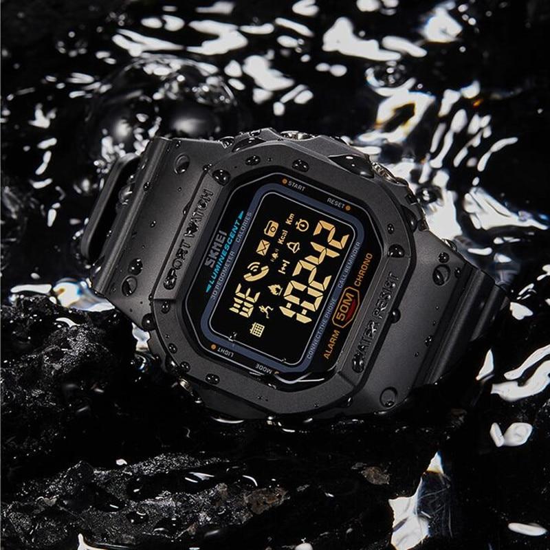 SKMEI Luxury Bluetooth Smartwatch Pedometer Calorie Watch Men Waterproof Sports Watches Smart Wrist watches Relogios Masculino