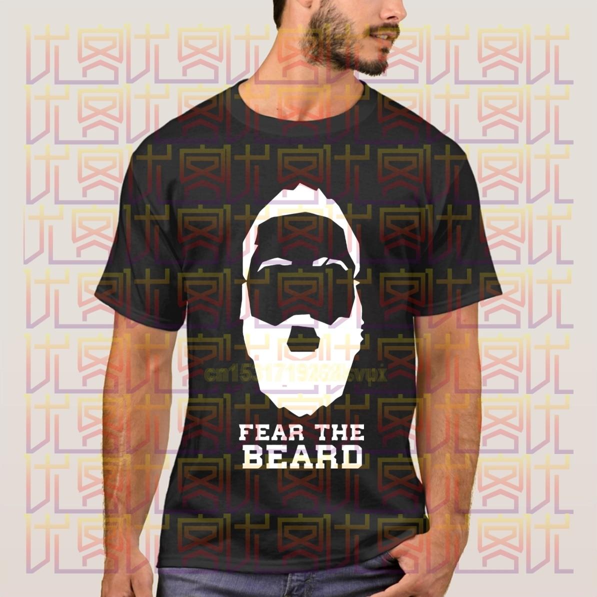 2020 moda Tide Camiseta James Harden Fear the beard Camisetas estampadas Arizona state verano casual camisetas Marca Ropa